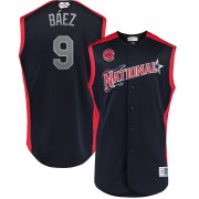 Wholesale Cheap National League #9 Javier Baez Majestic 2019 MLB All-Star Game Workout Player Jersey Navy