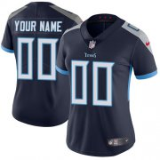 Wholesale Cheap Nike Tennessee Titans Customized Navy Blue Alternate Stitched Vapor Untouchable Limited Women's NFL Jersey