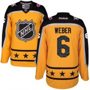 Wholesale Cheap Canadiens #6 Shea Weber Yellow 2017 All-Star Atlantic Division Women's Stitched NHL Jersey