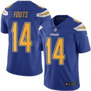 Wholesale Cheap Nike Chargers #14 Dan Fouts Electric Blue Men's Stitched NFL Limited Rush Jersey