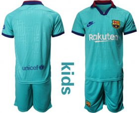 Wholesale Cheap Barcelona Blank Third Kid Soccer Club Jersey
