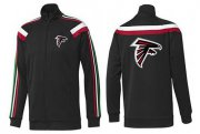 Wholesale Cheap NFL Atlanta Falcons Team Logo Jacket Black_2