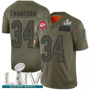 Wholesale Cheap Nike Chiefs #34 Darwin Thompson Camo Super Bowl LIV 2020 Men's Stitched NFL Limited 2019 Salute To Service Jersey