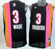 Wholesale Cheap Miami Floridians #3 Dwyane Wade ABA Hardwood Classic Swingman Black No Holes Jersey