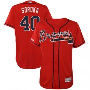 Wholesale Cheap Braves #40 Mike Soroka Red Flexbase Authentic Collection Stitched MLB Jersey