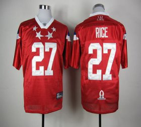 Wholesale Cheap Ravens #27 Ray Rice Red 2012 Pro Bowl Stitched NFL Jersey