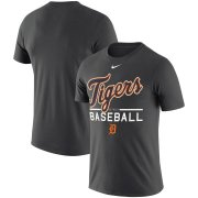 Wholesale Cheap Detroit Tigers Nike Practice Performance T-Shirt Anthracite