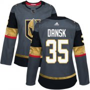 Wholesale Cheap Adidas Golden Knights #35 Oscar Dansk Grey Home Authentic Women's Stitched NHL Jersey