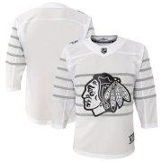 Wholesale Cheap Youth Chicago Blackhawks White 2020 NHL All-Star Game Premier Jersey