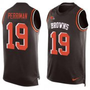 Wholesale Nike Browns #19 Bernie Kosar Brown Men's Stitched NFL Limited Rush Jersey