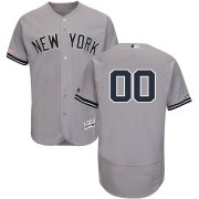 Wholesale Cheap New York Yankees Majestic Road Flex Base Authentic Collection Custom Jersey Gray