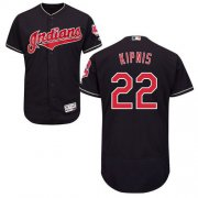 Wholesale Cheap Indians #22 Jason Kipnis Navy Blue Flexbase Authentic Collection Stitched MLB Jersey