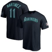 Wholesale Cheap Seattle Mariners #11 Edgar Martinez Majestic 2019 Hall of Fame Induction Name & Number T-Shirt Navy