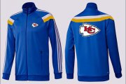 Wholesale NFL Kansas City Chiefs Team Logo Jacket Blue_1