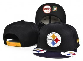 Wholesale Cheap Steelers Team Logo Black Adjustable Hat SF