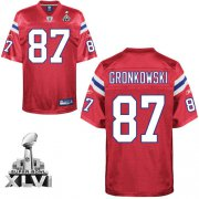 Wholesale Cheap Patriots #87 Rob Gronkowski Red Alternate Super Bowl XLVI Embroidered NFL Jersey