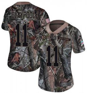 Wholesale Cheap Nike Steelers #11 Chase Claypool Camo Women\'s Stitched NFL Limited Rush Realtree Jersey