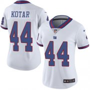 Wholesale Cheap Nike Giants #44 Doug Kotar White Women's Stitched NFL Limited Rush Jersey