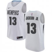 Wholesale Cheap Nike Memphis Grizzlies #13 Jaren Jackson Jr. White NBA Swingman City Edition Jersey