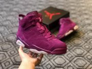 Wholesale Cheap Air Jordan 6 Customs Bordeaux Red Wine