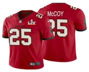 Wholesale Cheap Men's Tampa Bay Buccaneers #25 LeSean McCoy Red 2021 Super Bowl LV Limited Stitched NFL Jersey