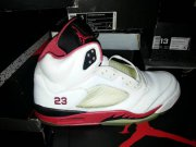 Wholesale Cheap Air Jordan Retro 5 Fire Red Shoes Red/White/Black