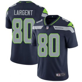 Wholesale Cheap Nike Seahawks #80 Steve Largent Steel Blue Team Color Youth Stitched NFL Vapor Untouchable Limited Jersey