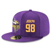 Wholesale Cheap Minnesota Vikings #98 Linval Joseph Snapback Cap NFL Player Purple with Gold Number Stitched Hat