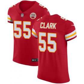 Wholesale Cheap Nike Chiefs #55 Frank Clark Red Team Color Men\'s Stitched NFL Vapor Untouchable Elite Jersey
