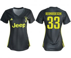 Wholesale Cheap Women\'s Juventus #33 Bernardeschi Third Soccer Club Jersey