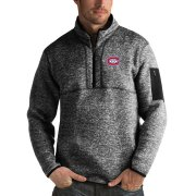 Wholesale Cheap Montreal Canadiens Antigua Fortune Quarter-Zip Pullover Jacket Charcoal