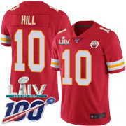 Wholesale Cheap Nike Chiefs #10 Tyreek Hill Red Super Bowl LIV 2020 Team Color Youth Stitched NFL 100th Season Vapor Untouchable Limited Jersey