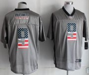 Wholesale Cheap Nike Cowboys #9 Tony Romo Grey Men's Stitched NFL Elite USA Flag Fashion Jersey