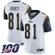 Wholesale Cheap Nike Rams #81 Gerald Everett White Men's Stitched NFL 100th Season Vapor Limited Jersey