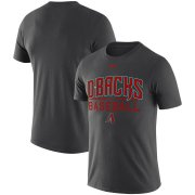Wholesale Cheap Arizona Diamondbacks Nike Practice Performance T-Shirt Anthracite