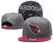 Wholesale Cheap Arizona Cardinals Team Logo Gray Red Adjustable Hat TX
