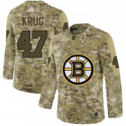 Wholesale Cheap Adidas Bruins #47 Torey Krug Camo Authentic Stitched NHL Jersey