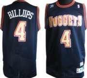 Wholesale Cheap Denver Nuggets #4 Chauncey Billups Navy Blue Swingman Throwback Jersey