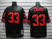 Wholesale Cheap Mitchell and Ness 49ers #33 Roger Craig Black Stitched Throwback NFL Jersey