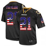 Wholesale Cheap Nike Redskins #21 Sean Taylor Black Men's Stitched NFL Elite USA Flag Fashion Jersey