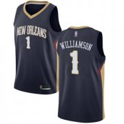 Wholesale Cheap Pelicans #1 Zion Williamson Navy Basketball Swingman Icon Edition Jersey