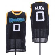 Wholesale Cheap Monstars 0 Alien Black Space Jam Stitched Mesh Movie Jersey