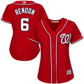 Wholesale Cheap Nationals #6 Anthony Rendon Red Alternate Women\'s Stitched MLB Jersey