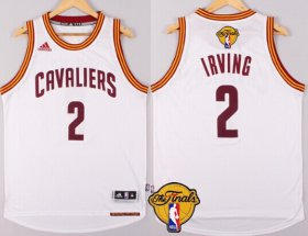 Wholesale Cheap Men\'s Cleveland Cavaliers #2 Kyrie Irving 2017 The NBA Finals Patch White Jersey