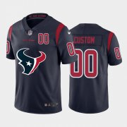 Wholesale Cheap Houston Texans Custom Navy Blue Men's Nike Big Team Logo Player Vapor Limited NFL Jersey
