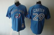 Wholesale Cheap Mitchell And Ness 1993 Blue Jays #29 Joe Carter Blue Stitched MLB Jersey