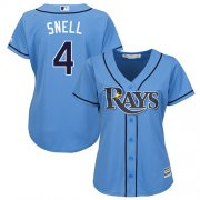 Wholesale Cheap Rays #4 Blake Snell Light Blue Alternate Women's Stitched MLB Jersey