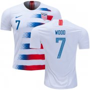 Wholesale Cheap USA #7 Wood Home Kid Soccer Country Jersey