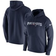 Wholesale Cheap Men's New England Patriots Nike Navy Club Fleece Pullover Hoodie