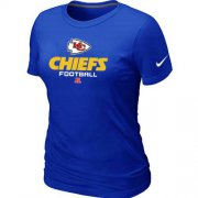 Wholesale Cheap Women's Nike Kansas City Chiefs Critical Victory NFL T-Shirt Blue
